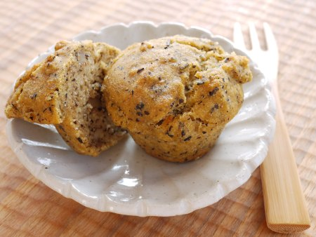 Japanese tea and brown rice muffin